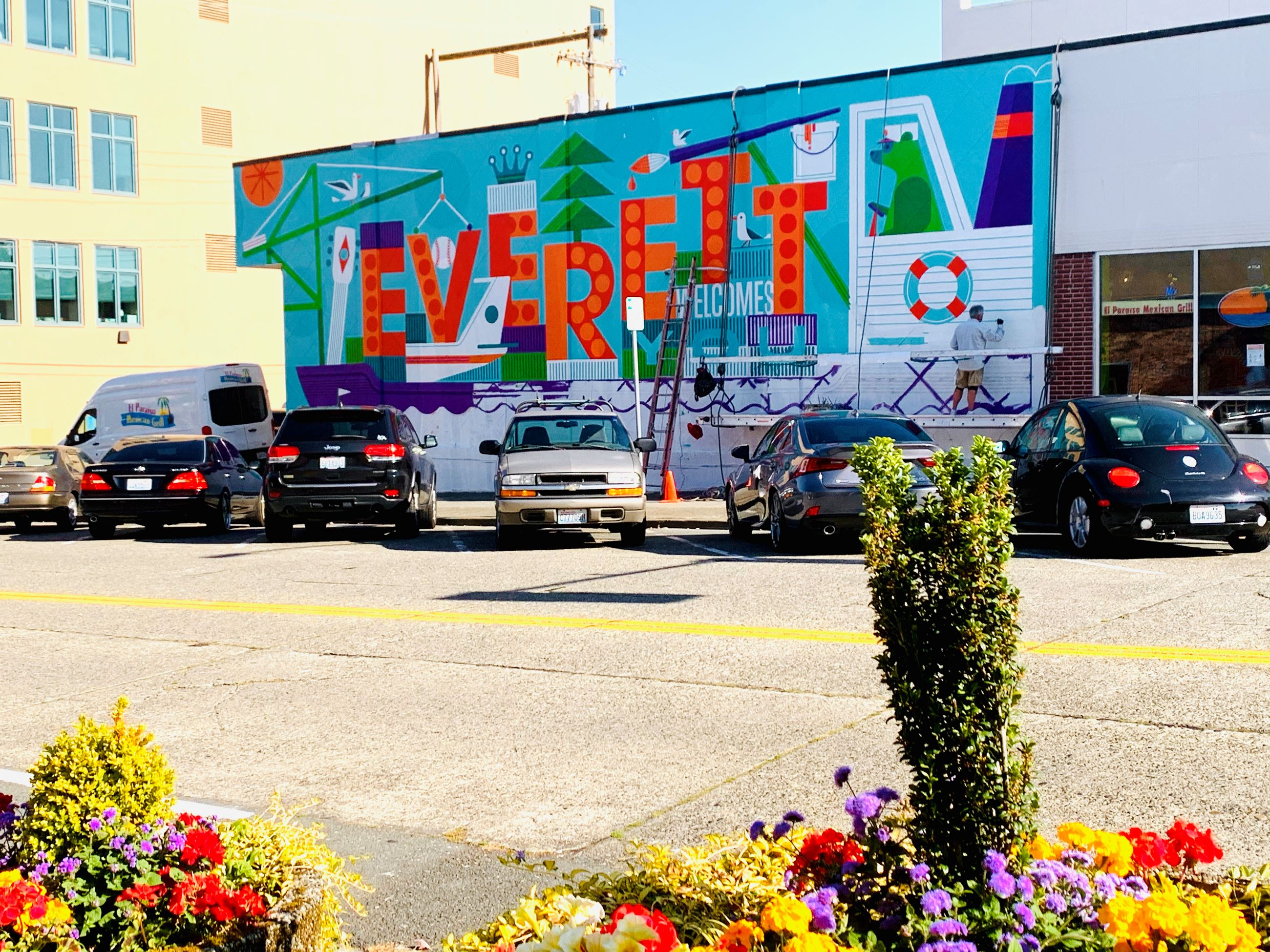 Everett Welcomes You mural